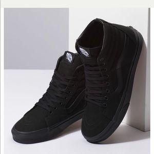Unisex VANS Canvas Sk8-Hi Black Shoes